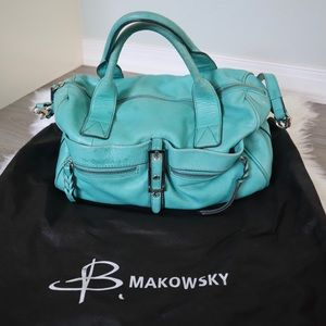 b. makowsky | Teal Crossbody Satchel Bag